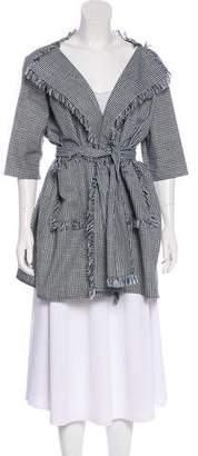 Chloé Gingham Print Coat