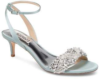 Badgley Mischka Women's Fiona Embellished Kitten Heel Sandals