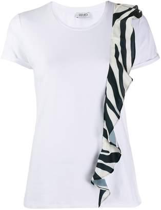 Liu Jo zebra frill detail T-shirt