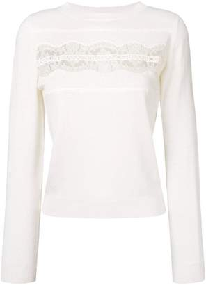 Ermanno Ermanno lace insert sweater