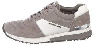 Michael Kors Suede Round-Toe Low-Top Sneakers