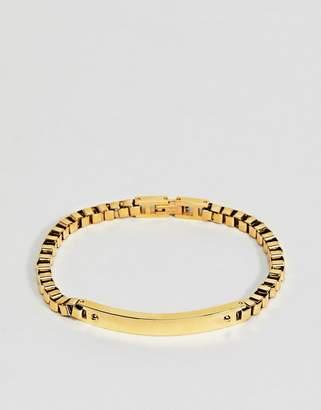Mister insignia bracelet in gold