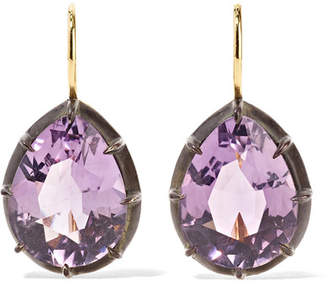 Fred Leighton - Collection 18-karat Gold, Sterling Silver And Amethyst Earrings