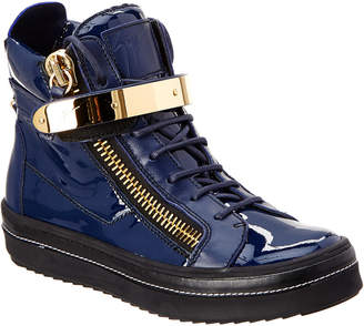 Giuseppe Zanotti Patent High-Top Wedge Sneaker