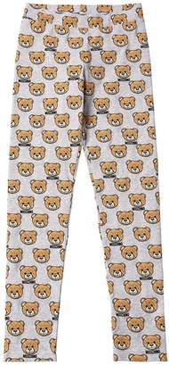 Moschino Allover Bear Print Cotton Jersey Legging