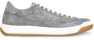 Burberry Perforated Logo Suede Sneakers