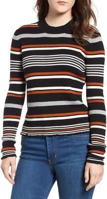 BP Ribbed Lettuce Edge Stripe Sweater