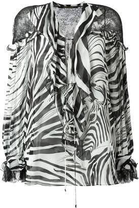 Roberto Cavalli zebra print blouse
