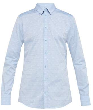 Dolce & Gabbana Gold Fit Cotton Poplin Shirt - Mens - Light Blue