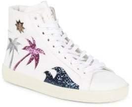 Saint Laurent Glittered Sneakers