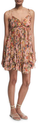 Zimmermann Lovelorn Floral-Print Sleeveless Mini Dress