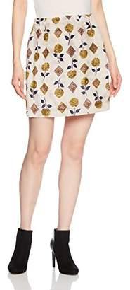 Lily Brown (リリー ブラウン) - [リリーブラウン] レトロ花柄ミニスカート LWFS175074 PNK 日本 0-(日本サイズ7 号相当)