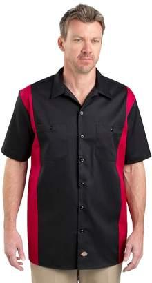 Dickies Men's Regular-Fit Colorblock Button-Down Work Shirt