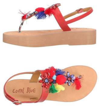 Sandale Post Corail Orteil Bleu onSrFLI