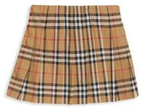Burberry Little Girl's& Girl's Tartan A-Line Skirt
