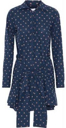 Derek Lam 10 Crosby Tie-Front Cotton-Poplin Mini Dress