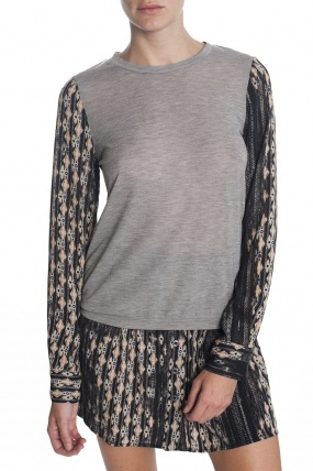 Charles Henry Printed Pullover Sweater