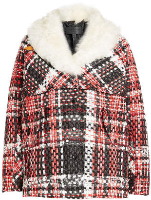 Rag & Bone Jacket with Wool, Cotton and Shearling Collar