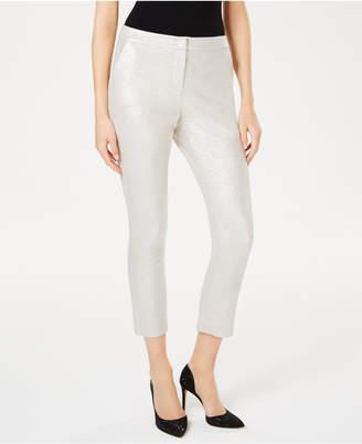 INC International Concepts I.n.c. Foil Crepe Skinny Pants
