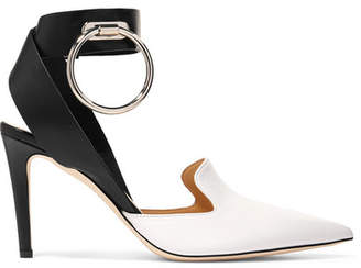 Monse Embellished Two-tone Leather Pumps - White