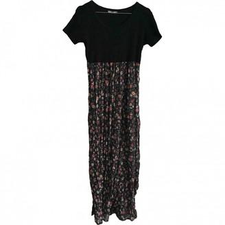 Aridza Bross Black Cotton Dress for Women Vintage