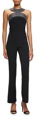 Thierry Mugler Massai-Stitched Sleeveless Jumpsuit, Black $2,600 thestylecure.com