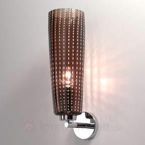 Grauer Glasschirm - Wandlampe Perle