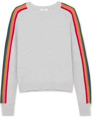 Allude Striped Merino Wool-blend Sweater - Gray