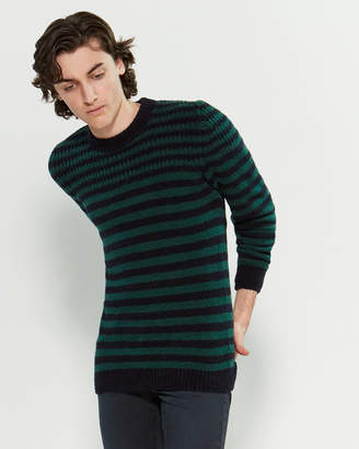Roberto Collina Stripe Long Sleeve Sweater