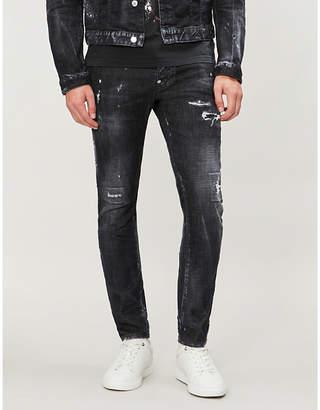 DSQUARED2 Embellished distressed skinny jeans