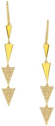 Lana Women's Flawless 14K Yellow Gold & Diamond Electric Spike Drop Earrings