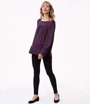 LOFT Maternity Leggings in Zip Pocket Ponte