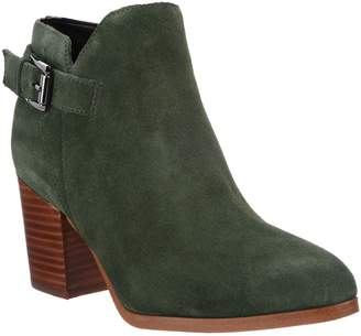 Marc Fisher Suede Block Heel Ankle Boots - Vandy