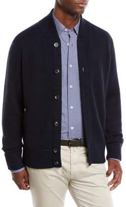 Neiman Marcus Men's Merino Knit Bomber Cardigan