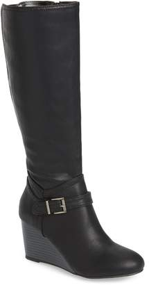 Mia Claretta Knee High Wedge Boot
