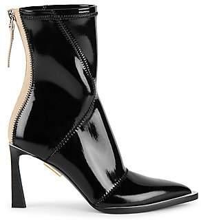 Fendi Women's Patent Neoprene Ankle Boots