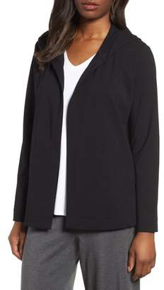 Eileen Fisher Stretch Organic Cotton Hooded Cardigan