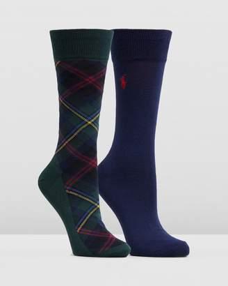 Polo Ralph Lauren 2-Pack Tartan Socks