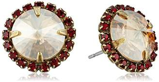 Sorrelli Go Garnet Haute Halo Post Stud Earrings