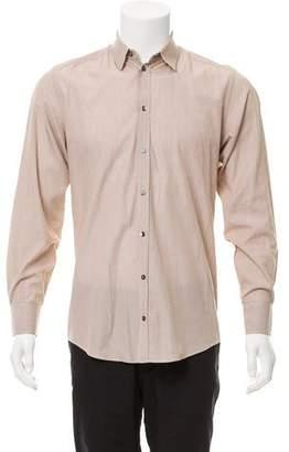 Dolce & Gabbana Martini Pinstriped Button-Up Shirt