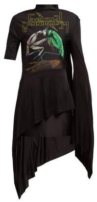 Christopher Kane Sexual Cannibalism Open Back Jersey Dress - Womens - Black Multi
