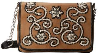 M&F Western Floral Stitch Medium Flap Shoulder Bag Shoulder Handbags