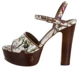 Gucci Flora Platform Sandals