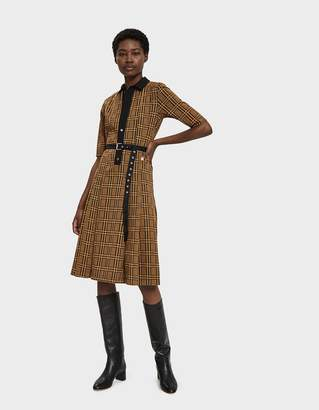 Hope Cat Pleated Check Dress