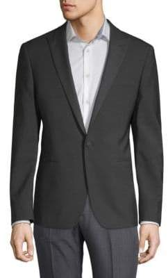John Varvatos Peak Lapel Wool Jacket