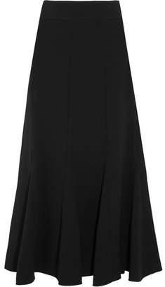 Chloé Pleated Crepe Midi Skirt - Black