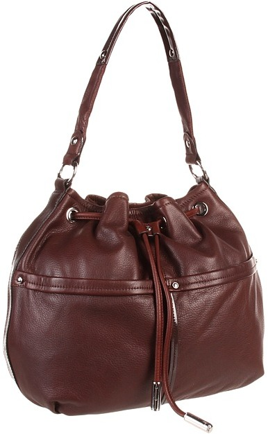 B. Makowsky Anna Drawstring (Brandy) - Bags and Luggage