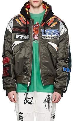 Vetements Men's Reversible Motocross Oversized Hooded Bomber Jacket