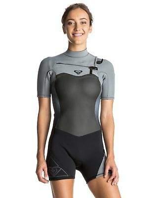 Roxy NEW ROXYTM Womens Syncro 2 2 Short Sleeve Chest Zip GBS Springsuit  Wetsuit 2016 3e2e15944