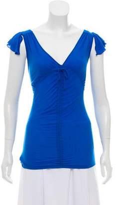 Blumarine Short Sleeve V-Neck Top